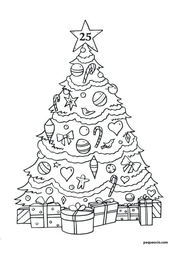 20 Arboles De Navidad Para Colorear Y Como Dibujar Un Arbol Navideno Pequeocio Arbol De Navidad Para Colorear Paginas Para Colorear De Navidad Imagenes De Arbol De Navidad