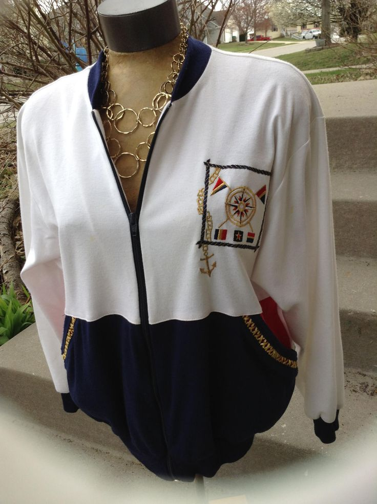 Excited to share the latest addition to my #etsy shop: Vintage hipster kitsch Peter Popovitch ladies nautical jacket size medium free domestic shipping