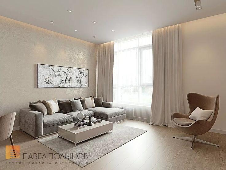 Фото: Дизайн кухни-гостиной - Интерьер однокомнатной квартиры в современном стиле