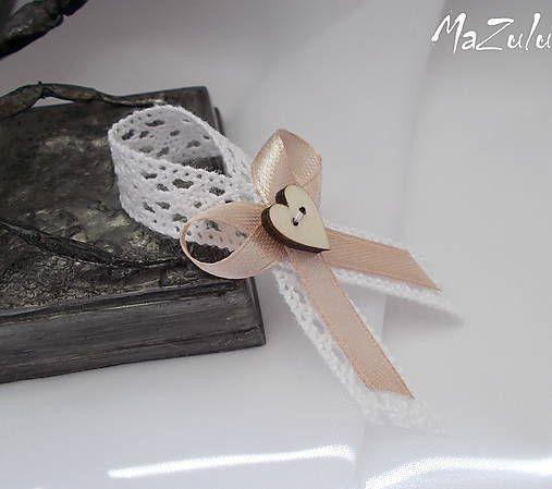 MaZulu / vintage svadobné pierko v odtieni latte