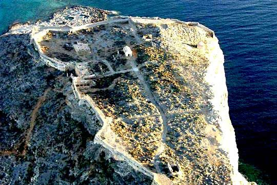 Gramvousa Fortress  Island Gramvousa, Kissamos, Crete Island