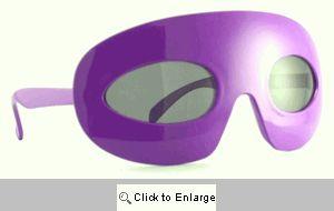 Zorro Retro Mask Sunglasses - 365 Purple
