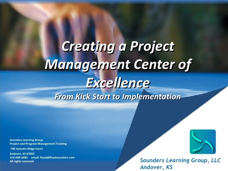 Most companies can benefit from creating a Center of Excellence for project management. Check this out. creating-a-project-management-center-of-excellence by Floyd Saunders via Slideshare