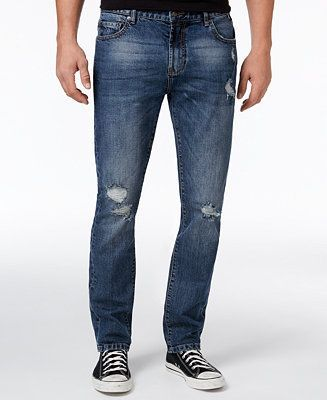 58ff9bbc American Rag Men's Slim Fit Ripped Jeans, Created for Macy's Men - #jeans -  Macy's