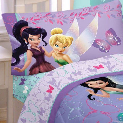 Kids' Sheet Sets - Disney Fairies Sparkling Butterflies 4pc Full Bed Sheets Set *** For more information, visit image link.