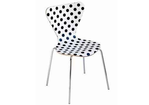 una sedia a pois