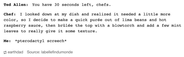SERIOUSLY. | 23 Tumblr Posts About Food Network That'll Crack You Up