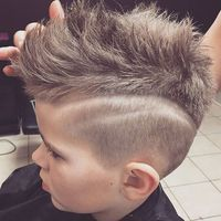 Trendy Boys Haircuts - Mohawk with Fade