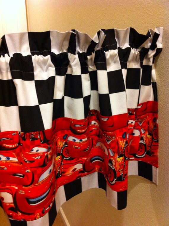 Race Cars valance Lightning McQueen valance by madebyoksana, $31.00