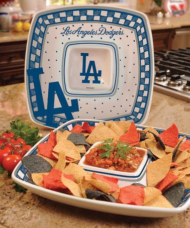 Another great find on #zulily! Los Angeles Dodgers Game Day Chip & Dip Platter #zulilyfinds