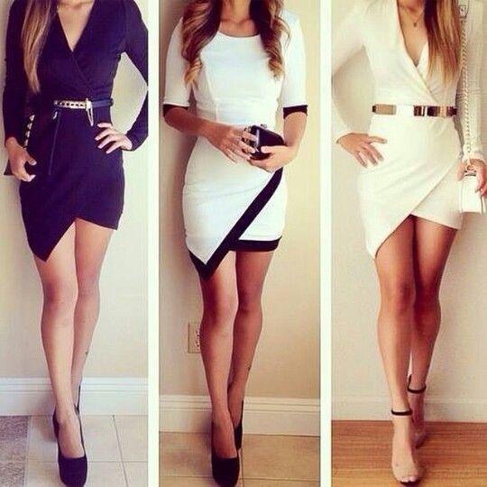 Faldas asimétricas, 3 modelos.