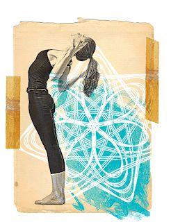 scarlet seal yoga is an art  yoga art yoga illustration