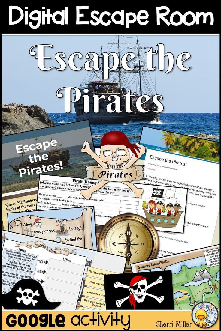 Digital Escape Room: Escape the Pirates! ELA Breakout Activity ...