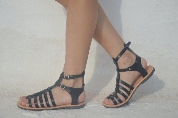 Unisex Gladiator leather strap sandals18 COLOURS by EATHINI