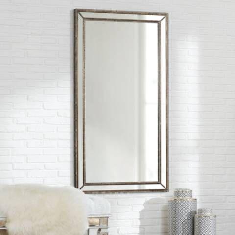 Roseau Palais Bronze 32 1 2 X 59 1 2 Beaded Mirror 1w987