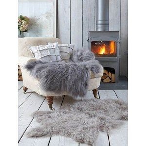 Royal Dream Large Sheepskin Rug Grey