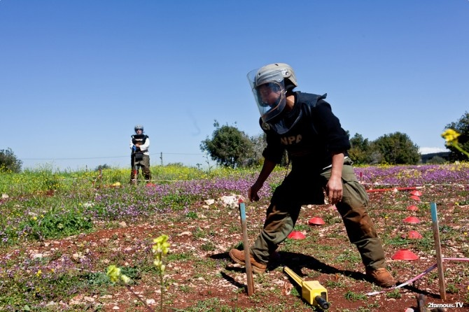 You have to watch your steps when you're clearing land mines