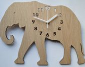 ideal clock for a kids room showing an elephant.