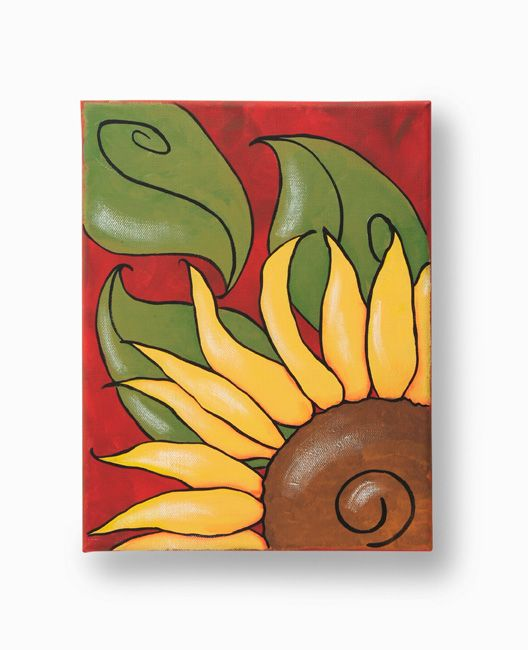 Callling all painters! Add a touch of fall to your home with this autumn canvas!