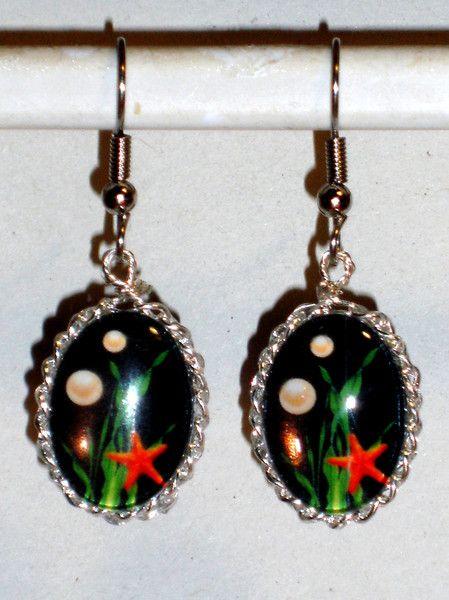 Ohrhänger - Ohrringe Seestern Damen Hänger Durchzieher - ein Designerstück von ausgefallene-Ohrringe bei DaWanda