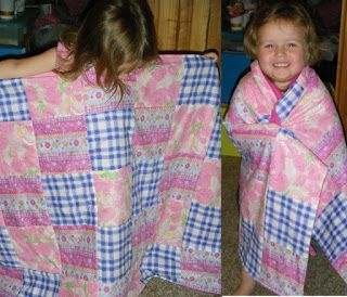 My assistant's first quilt - age 2!