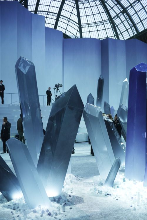"The ""crystal"" studded Fall 2012 Chanel show runway"
