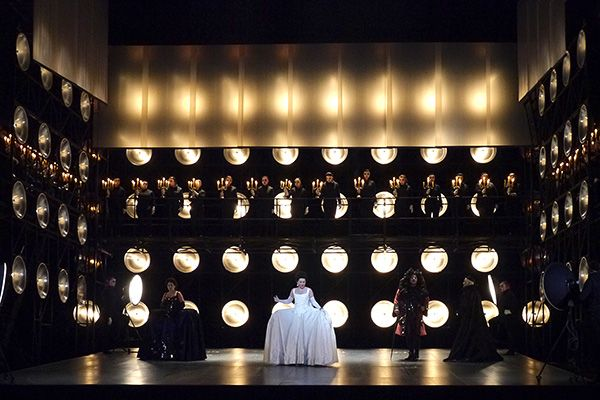 Adriana Lecouvreur. Opéra de Nice. Scenic and lighting design by Nicolas Bovey. 2014