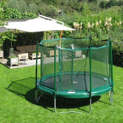 JumpFree 14 Foot Trampoline With Safety Enclosure  Green *** Find out more about the great product at the image link.