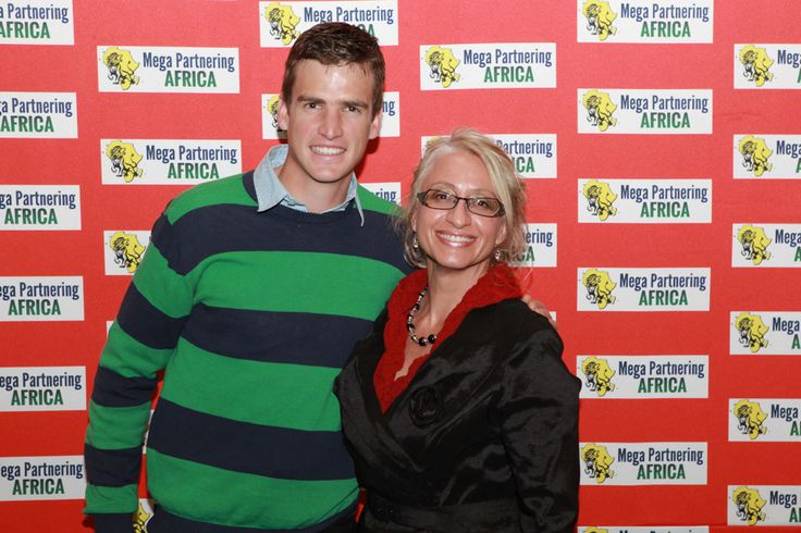 Beryl Bronkhorst with Matthew Brittain,South African Rowing Athlete and Olympic gold medalist 2012.