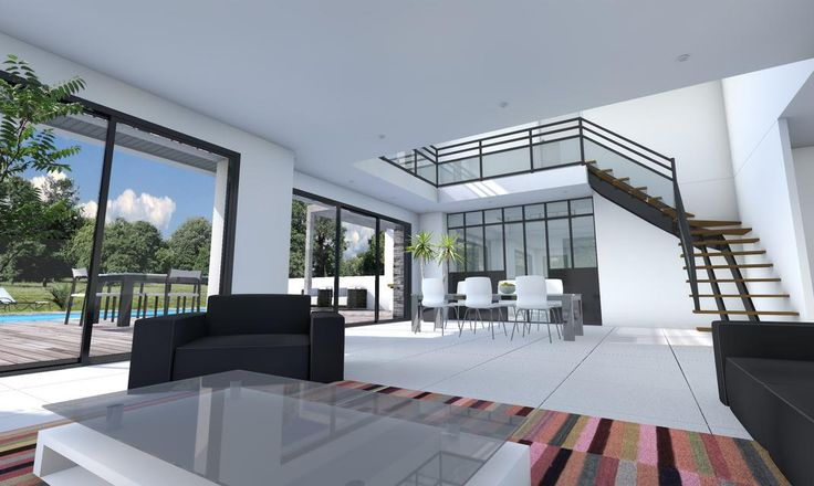 C'est un modèle de maison moderne baignée de lumière que l'on vous propose ici. Un grand volume (177 m²) avec[...]