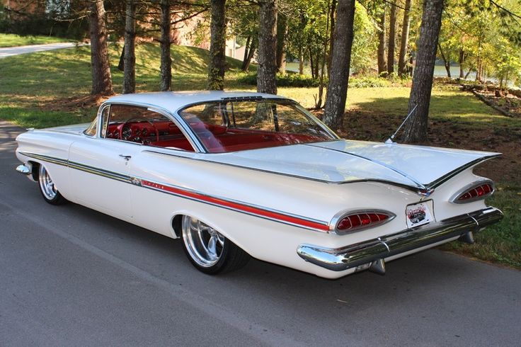 1959 Chevy Impala / My first brand new car.  Picture this with white walls and fender skirts, mine!
