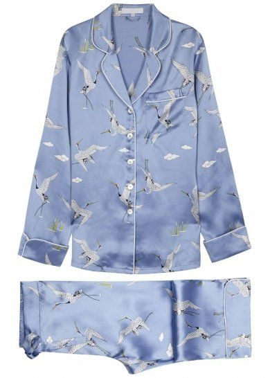 Pin for Later: You'll Want to Wear This Nightwear All Day Long Olivia von Halle Lila Noa Bird-print Silk Pyjama Set Olivia von Halle Lila Noa Bird-print Silk Pyjama Set (£350)
