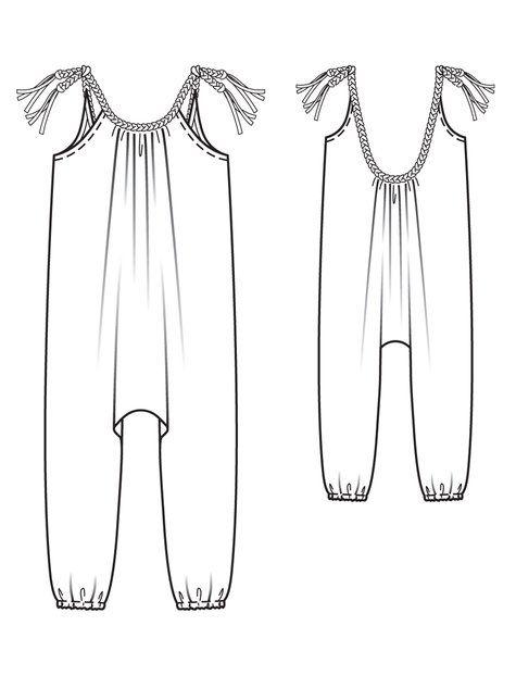 Girl 39 s harem jumpsuit 05 2013 143 neriah blaire for Harem pants template