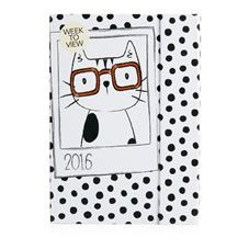 Note down all your thoughts and organise your life in this 2016 A5 diary. It features a gorgeous cat selfie design on the cover and a week to view diary inside. There's also space at the front to write down information about yourself, your favourite things and memories as well as a notes  section at the back. Don't forget to check out the rest of our Selfie stationery range.