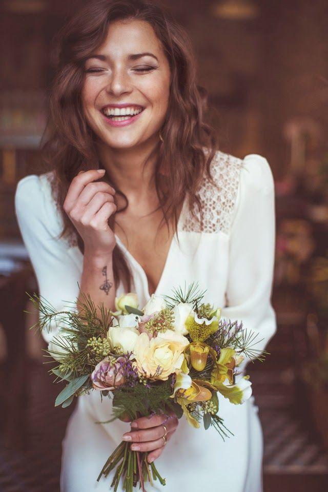 un beau bouquet pour mariée bohème Trendy Wedding