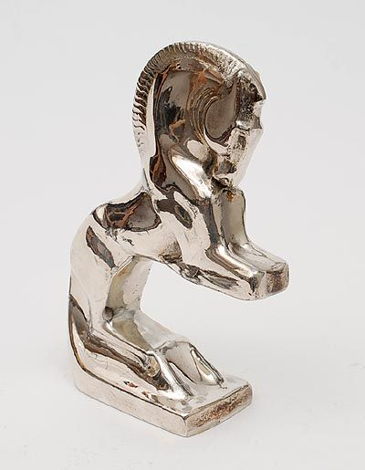 Found on www.botterweg.com - Pewter sculpture of a prancing horse design Chr.van der Hoef executed by Gero / the Netherlands 1933