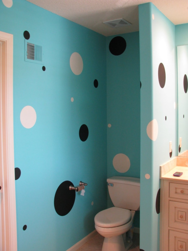 Teen Bathroom Dots Paint The Black Dots With Chalk Board Paint And Write  Sayings On Them