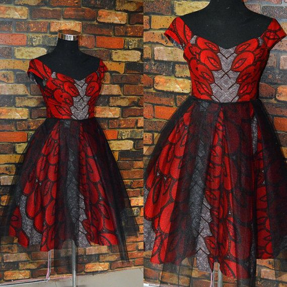 ESE africain imprimé robe de Tulle Tulle par CoCoCremeCouturier