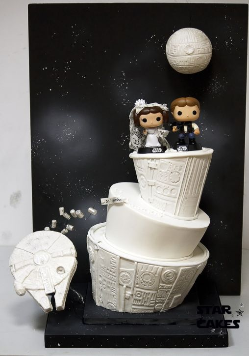 Adorable Star Wars wedding cake