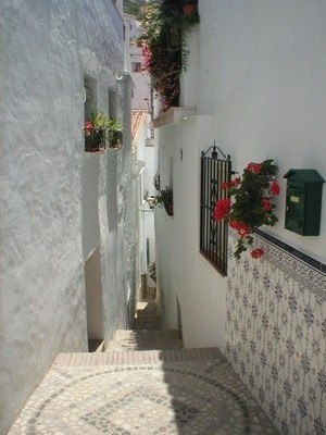 A squeeze between the houses in this Moorish village in the Axarquia (Malaga).