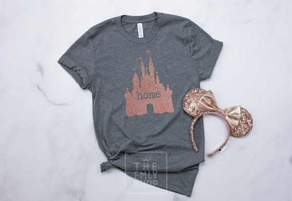 Rose Gold Glitter Home Princess Castle Premium Soft Hoodie Disney Vacation