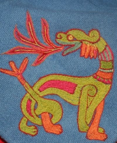 ideas of Viking embroidery, a swedish site of reconstruction and fantasy viking embroidery