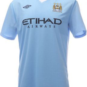 Manchester City Football Shirt 2011-2012. Available online.