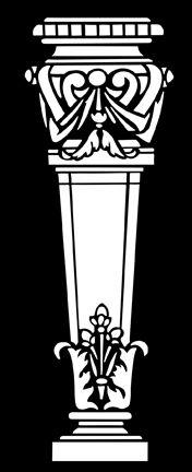 Architecture Pedestal No 1  stencils, stensils and stencles