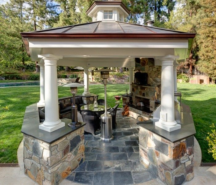 17 best images about outdoor kitchens on pinterest for Outdoor kitchen gazebo design