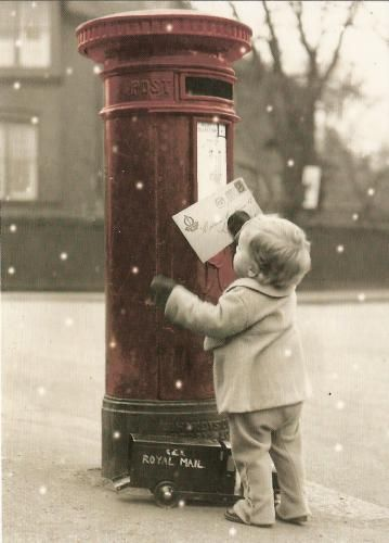 Mailing to Santa #Mellifluous Moments - love the Royal Mail truck at the bottom of the post box