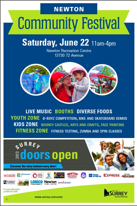 18th Annual Newton Community Festival  Doors open