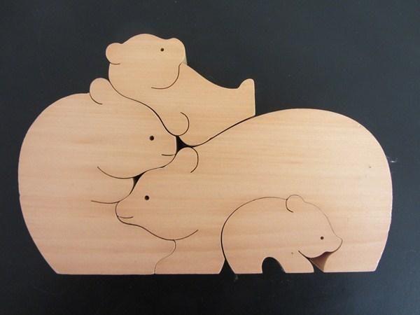 Bärenfamilie Nr. 9256 Sabu Oguro Puzzle by Naef Spiele