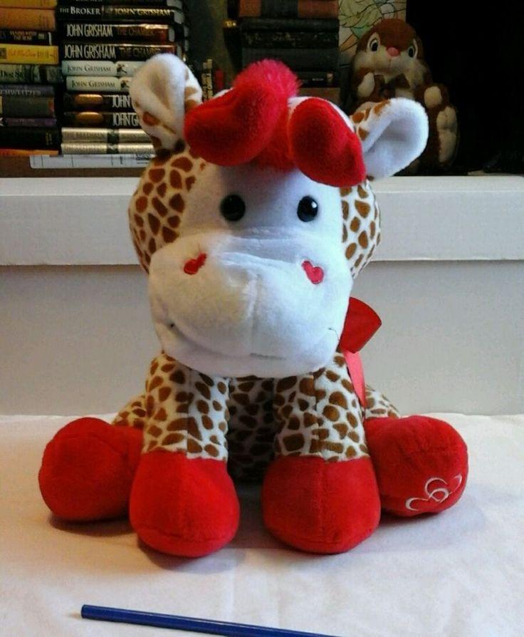 Valentines Day Giraffe 12in Plush In Toys U0026 Hobbies, Stuffed Animals, Other Stuffed  Animals