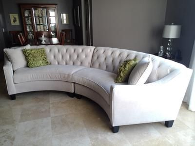 Incroyable Home Decorators Collection   RIEMANN TUFTED SECTIONAL Customer ...  Oversized CouchCurved ...